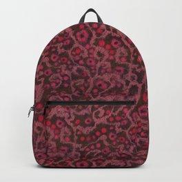 Pink Flowers, Blush Curves, fiber art Backpack