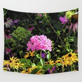 Peppermint Twist Garden Phlox in the Flower Garden Wall Tapestry