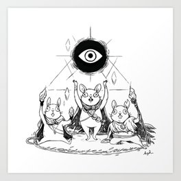 Three Blind Mice Art Print
