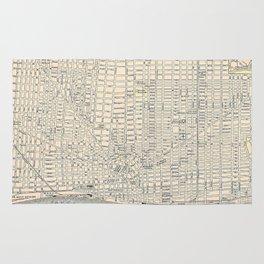 Vintage Map of Detroit (1895) Rug