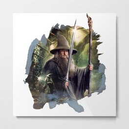 The Wizard in Dol Guldur Metal Print