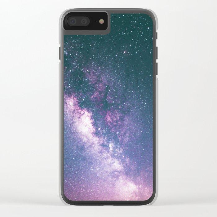 Galaxy dreams Clear iPhone Case