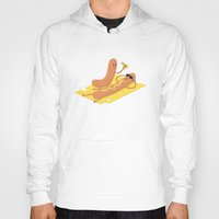 hot dog Hoodies featuring Hot Dog (?) by Ricos Quesos