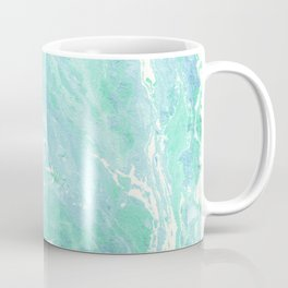 Marble texture background, white blue green marble pattern Coffee Mug