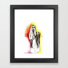Model Framed Art Print