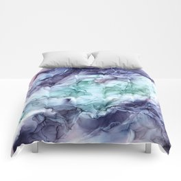Growth- Abstract Botanical Fluid Art Painting Comforters