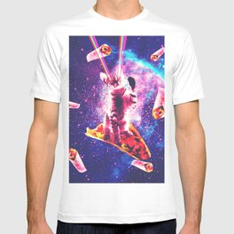 Outer Space Taco Cat - Rainbow Laser Eyes, Burrito T-shirt