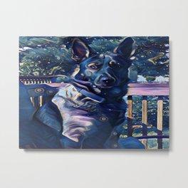Blue Midnight Shepherd Metal Print