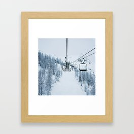 Lake Louise Chairlift Framed Art Print