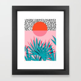 Whoa - palm sunrise southwest california palm beach sun city los angeles retro palm springs resort  Framed Art Print