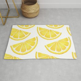 Pattern with slices of lemon Rug