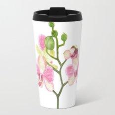 Pink Orchid Travel Mug