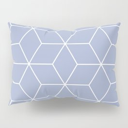 Blue and white geometric pattern Pillow Sham
