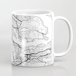 Stockholm Map White Coffee Mug