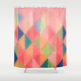 Harlequin Pattern Shower Curtain