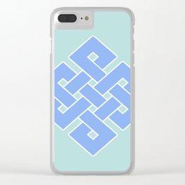 Eternal (soft blue & green) Clear iPhone Case