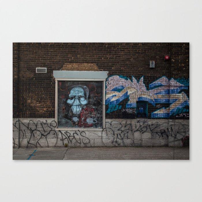 Spooky Street art Canvas Print