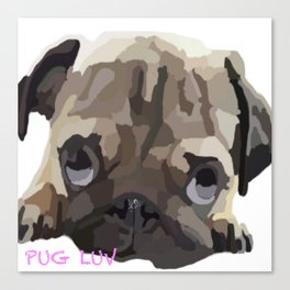 Pug Luv Canvas Print