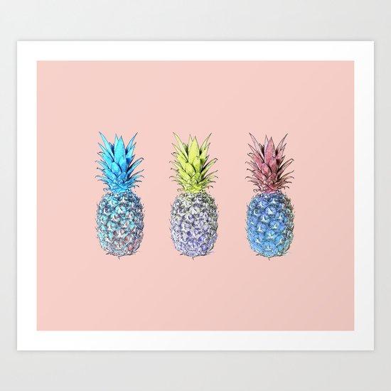 Haha pineapples Art Print