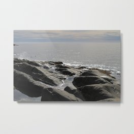 Stones in the water Metal Print