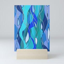Wavy Blue Mini Art Print