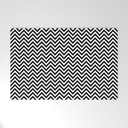 Black and White Chevron Welcome Mat