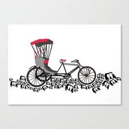 Rickshaws Canvas Print