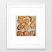cookies Framed Art Prints featuring Cookies by Yellow Barn Studio
