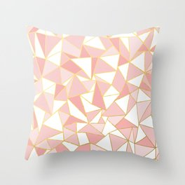 Ab Out Blush Gold 2 Throw Pillow