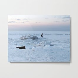 Out on the Ice Metal Print