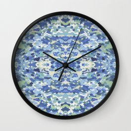 Coastal Mandala Wall Clock