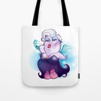 ursula Tote Bags featuring Ursula by breakfastjones