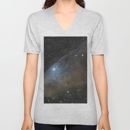 Blue Horsehead Nebula. Unisex V-Neck