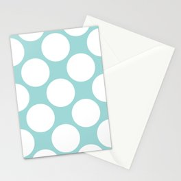 Polka Dots Blue Stationery Cards