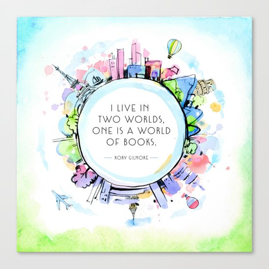 Rory Gilmore Bookish World Canvas Print