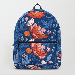 Art nouveau blue Backpack