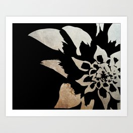Dark flower Art Print