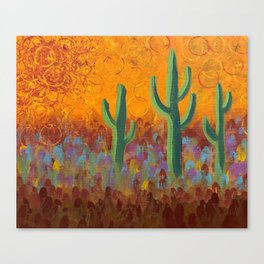 Saguaros Dreaming Canvas Print