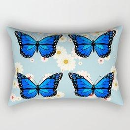 Four blue butterflies Rectangular Pillow