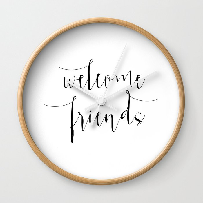 photograph about Printable Welcome Sign identify Inspirational Estimate Welcome Close friends Quotation Print Typography Print Quotation Printable Dwelling Welcome Indication Wall Clock