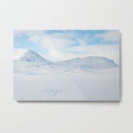 Snowshoeing in Swedish Lapland Metal Print