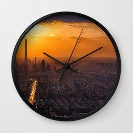 Tianjin City at Sunset Wall Clock