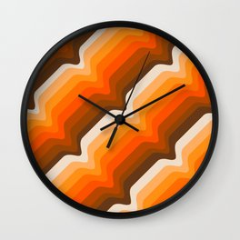 Golden Wave Wall Clock