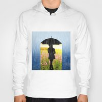 umbrella Hoodies featuring Umbrella by Cs025