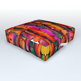 For the World Sugarcane - Alicia Jones - Pattern Outdoor Floor Cushion