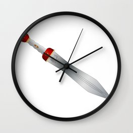 Roman Gladiator Sword Wall Clock