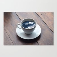 witchoria Canvas Prints featuring Cup of Sea by witchoria