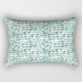 Teal pebbles Rectangular Pillow