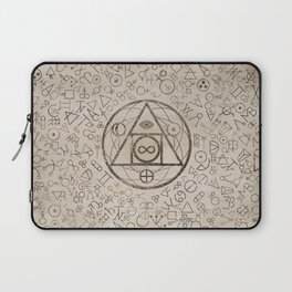 Philosopher's stone symbol and Alchemical  pattern #3 Laptop Sleeve