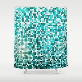 Pool Tiles Shower Curtain